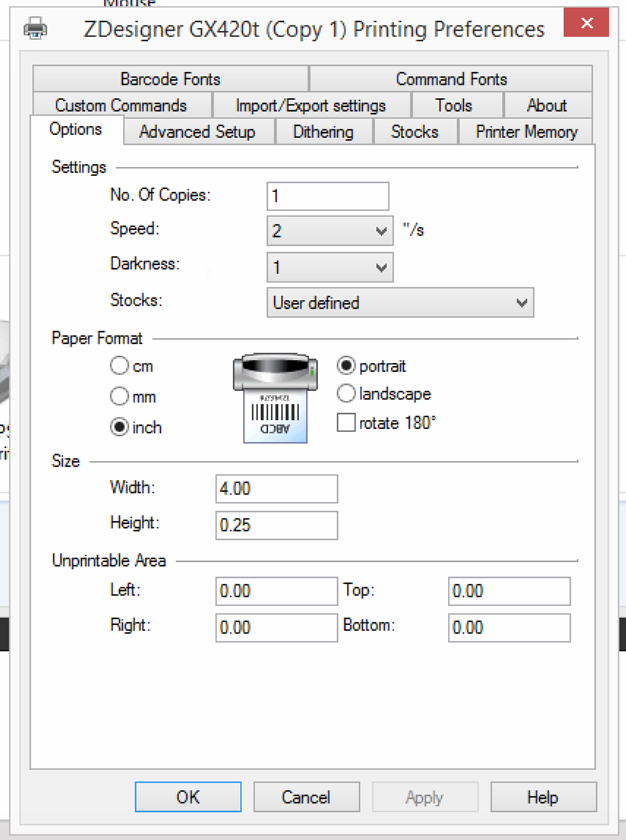 Zebra Temp Tag Printer Darkness – SMRT Systems